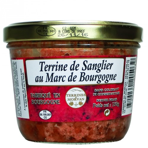 Terrine de sanglier au Marc de Bourgogne 180g