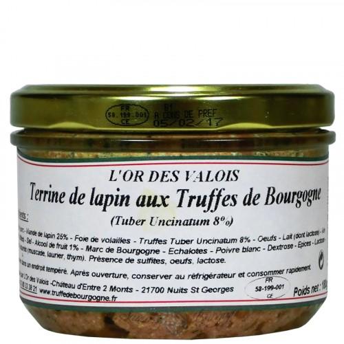 Terrine de Lapin aux Truffes de Bourgogne 180g