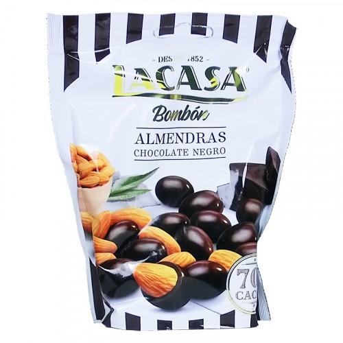 Bonbon enrobé de chocolat noir aux Amandes 125g