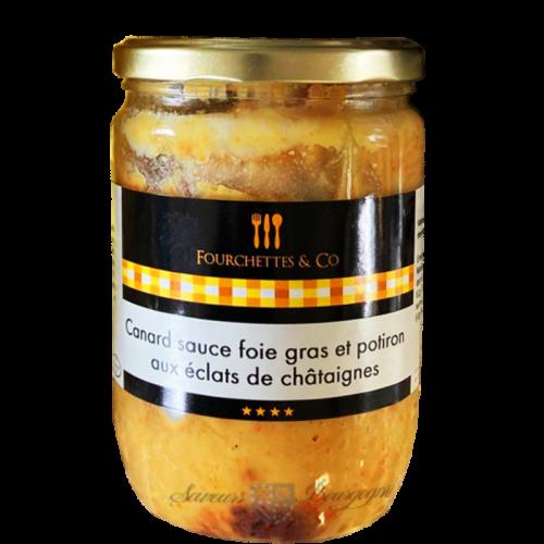 Canard Sauce Foie gras et Potiron aux Eclats de Châtaignes 600g Frairie