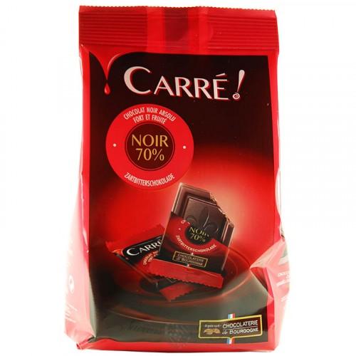 Sachet de Carré Chocolat Noir 70% 200g