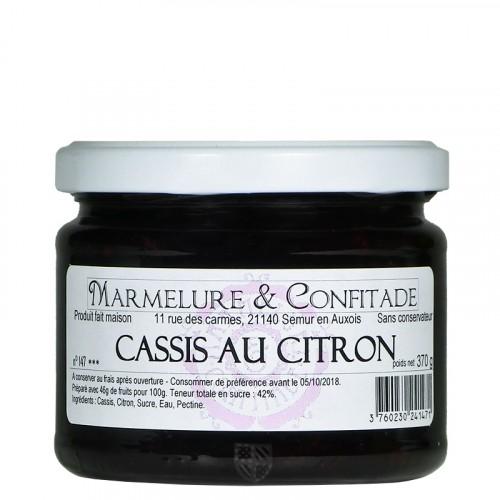 Confiture Cassis au citron 370g Marmelure & Confitade