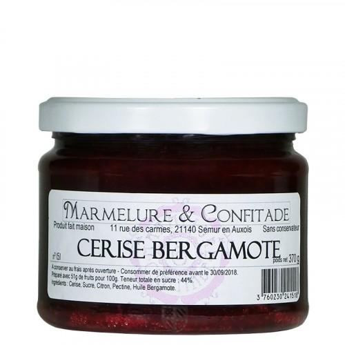Confiture Cerise bergamote 370g Marmelure & Confitade