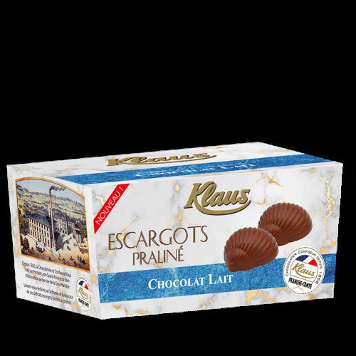 Escargots de Bourgogne Chocolat au lait Praliné Ballotin 490g - Klaus
