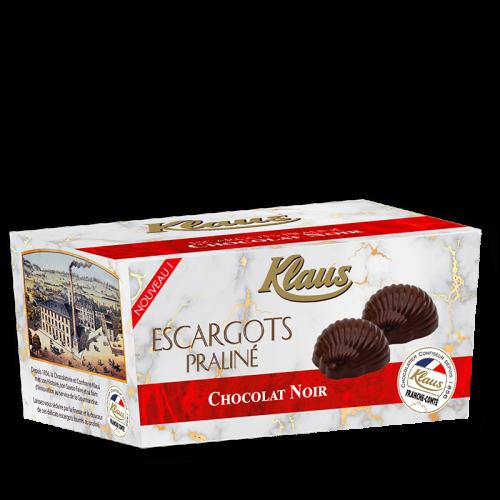 Escargots de Bourgogne Chocolat Noir Praliné ballotin 490g - Klaus