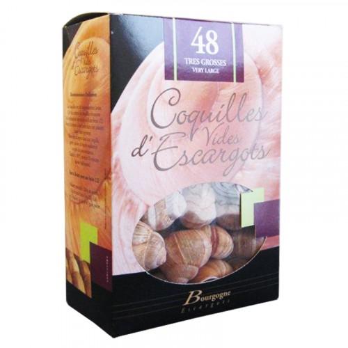 """Coquilles d'escargots """"Très grosses"""" étui de 48 - Bourgogne Escargots"""