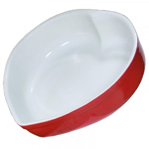 Plat céramique Cœur rouge