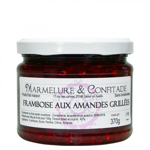 Confiture Framboise aux amandes grillées 370g Marmelure & Confitade