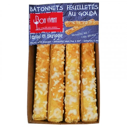 Batonnets Feuilletés au Gouda pur beurre