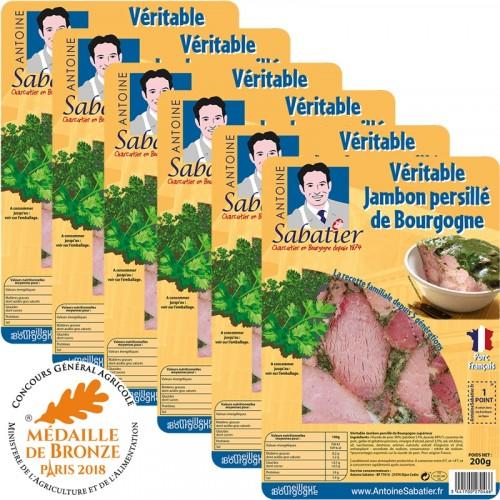 Jambon persillé de Bourgogne 200g x 6 tranches - Livraison uniquement en enlèvement chez nos partenaires
