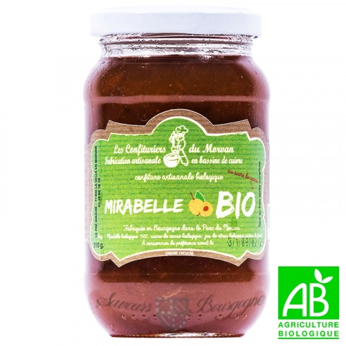 Confiture Mirabelle Bio 310g Confiturier du Morvan