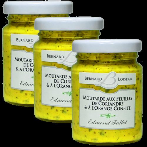 Moutarde feuilles de coriandre et à l'orange confite 100g