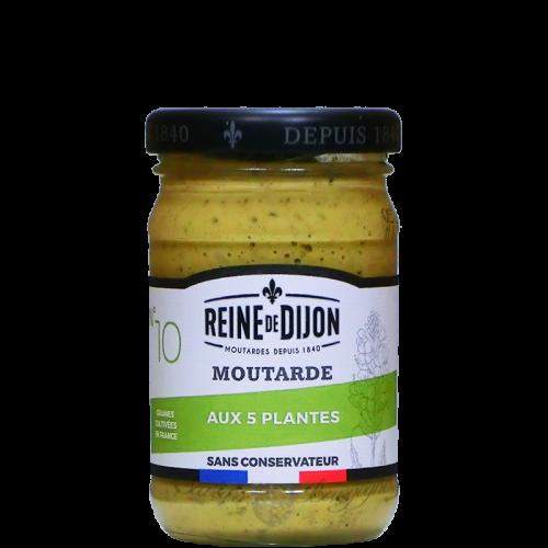 Moutarde 5 plantes 100g sans conservateur Reine de Dijon