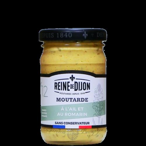 Moutarde ail et romarin 100g Reine de Dijon