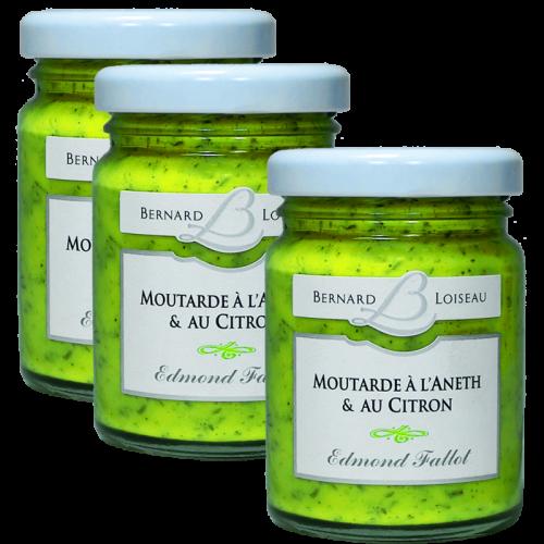Moutarde à l'Aneth et au citron 100g