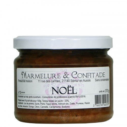 Confiture Noël 370g Marmelure & Confitade
