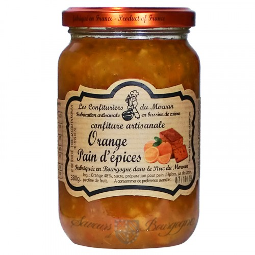 Confiture Orange-Pain d'épice 380g Confituriers du Morvan