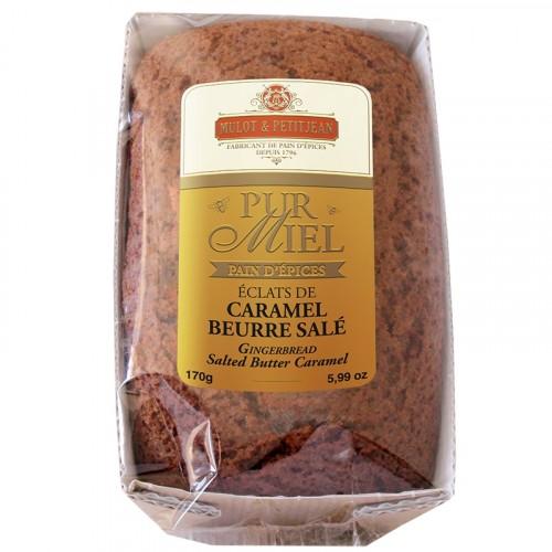 """Pain d'épices """"Pur Miel"""" aux éclats de caramel beurre salé 170g"""