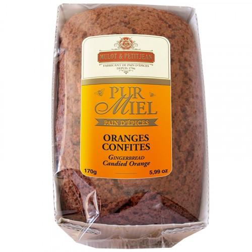 """Pain d'épices """"Pur Miel"""" aux oranges confites 170g"""