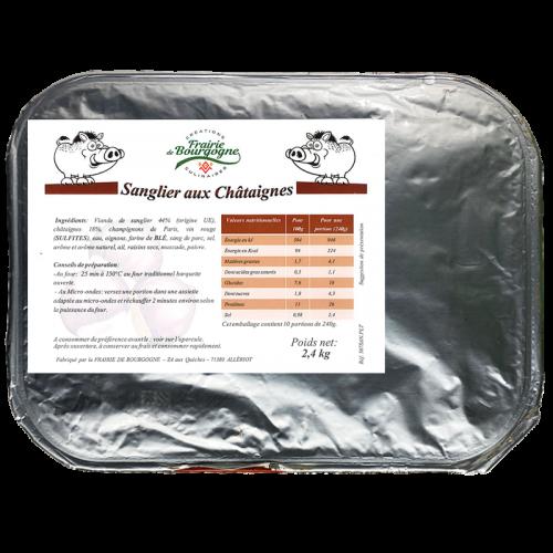 Sanglier aux Châtaignes 2.4Kg - Frairie de Bourgogne