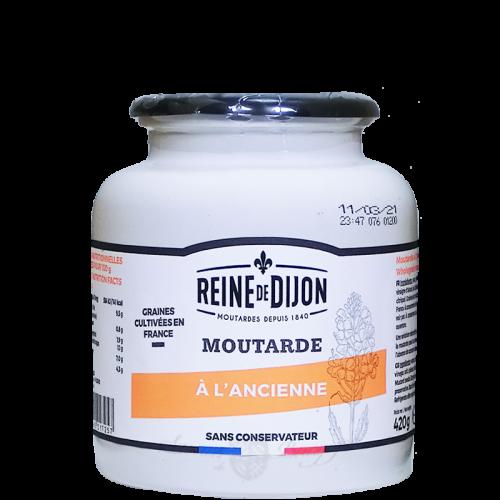 Moutarde ancienne pot grès 420g Reine de Dijon