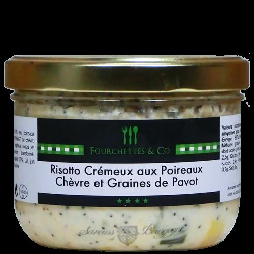 Risotto Crémeux aux Poireaux Chèvre et Graines de Pavot 380g
