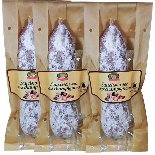 Saucisson sec aux champignons 170g Fernand Dussert + 2 Gratuits