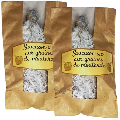 Saucisson sec aux graines de moutarde 200g Fernand Dussert + 1 gratuit