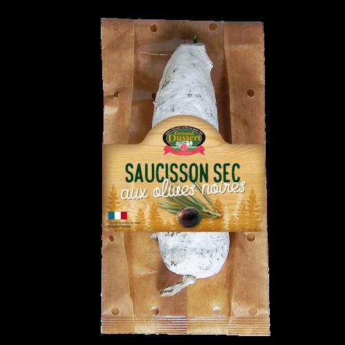 Saucisson sec aux olives noires 200g Fernand Dussert
