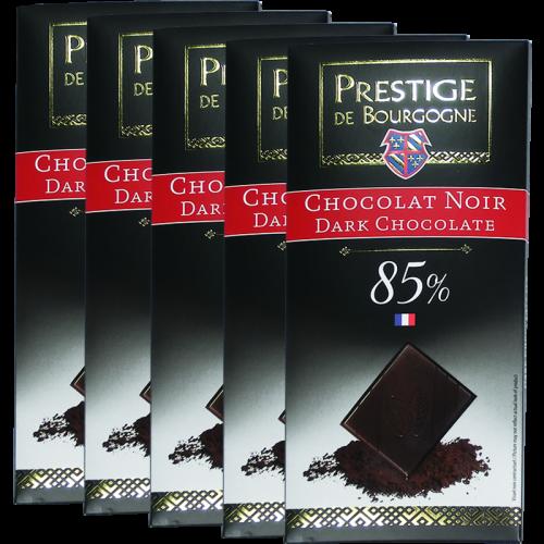 Tablette Chocolat Noir 85% 100g  x 25 - Chocolaterie de Bourgogne