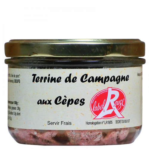 Terrine de campagne aux cèpes 180g Label Rouge