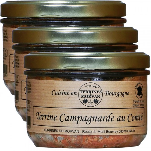 Terrine Campagnarde au Comté 180g x 2 + 1 Gratuit