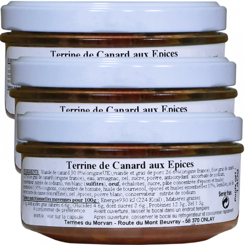 Terrine de Canard aux épices 140g x2 + 1 gratuit
