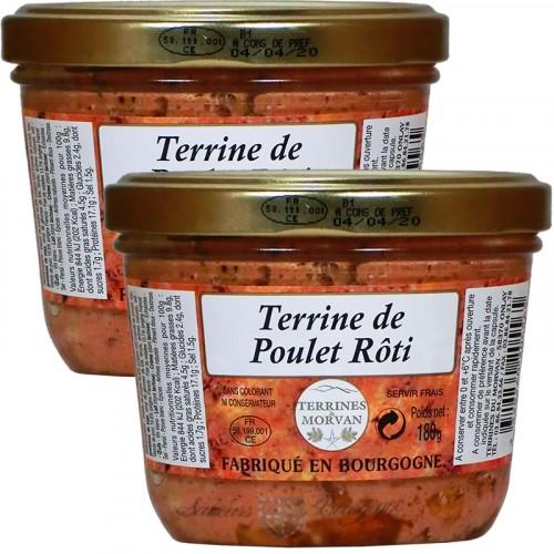 Terrine de Poulet Rôti 180g + 1 Gratuite