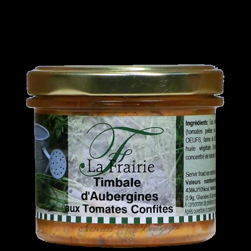 Timbale d'aubergine aux tomates confites 100g