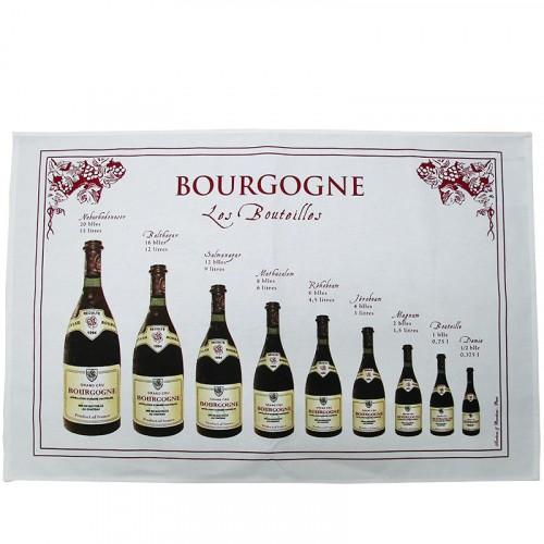 Torchon Bouteilles de Bourgogne