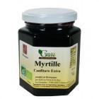 Confiture Myrtille 320g bio ferme de Guye