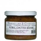 Confiture Poire, dattes sésame 370g Marmelure & Confitade