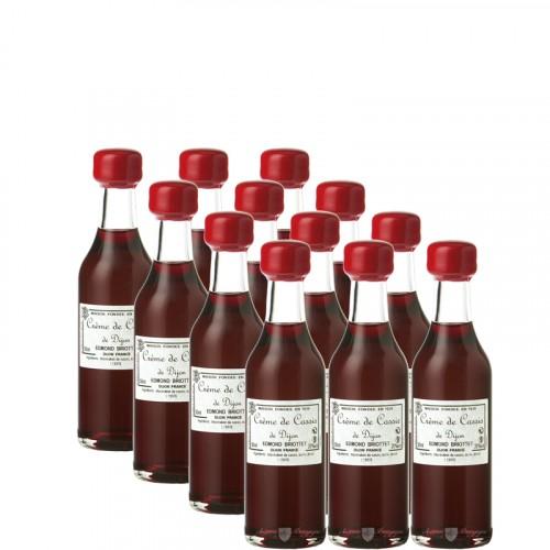 12 x Crème Cassis de Dijon 20% 5cl Briottet personnalisable