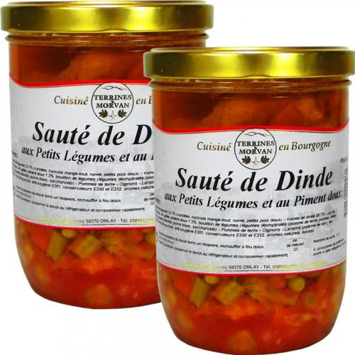 Sautés de Dinde aux Petits légumes et au Piment doux 750g x 2