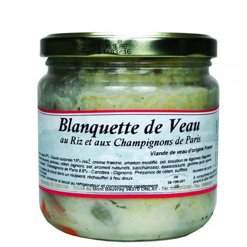 Blanquette de Veau au riz et aux champignons de Paris 400g