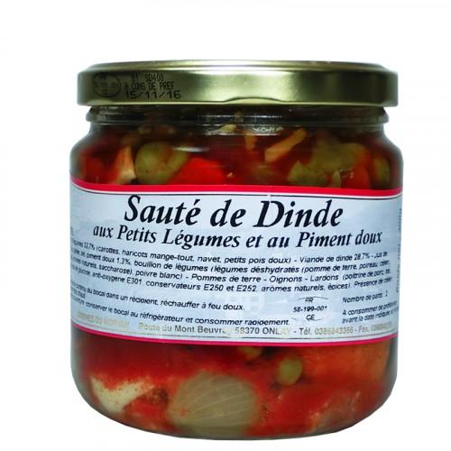 Sauté de Dinde aux Petits légumes et au Piment doux 400g