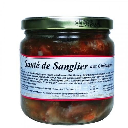Sauté de Sanglier aux Châtaignes 400g