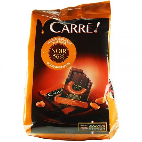 Sachet de Carrés Chocolat Noir aux éclats de caramel au beurre salé 200g