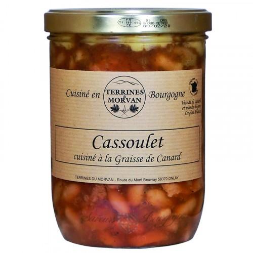Cassoulet cuisiné à la graisse de canard 750g