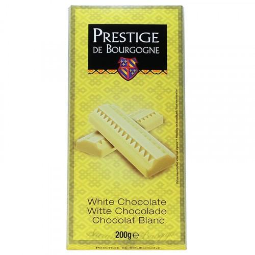 Tablette Chocolat Blanc 200g Prestige de Bourgogne