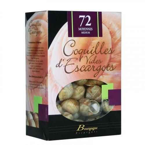 """Coquilles d'escargots """"Moyenne"""" étui de 72 - Bourgogne Escargots"""