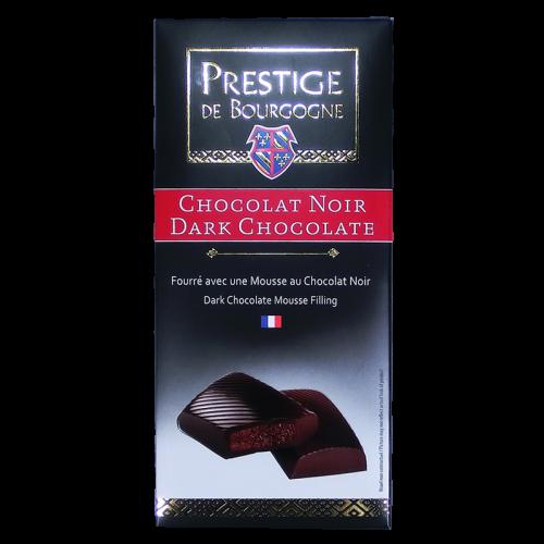 Tablette Chocolat Noir fourré à la mousse de chocolat noir 160g Prestige de Bourgogne