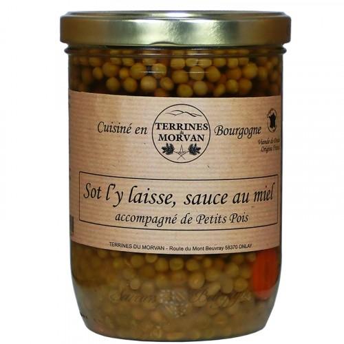 Sot l'y laisse, sauce au miel accompagné de petits poids 750g