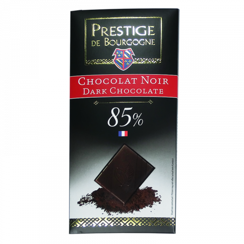 Tablette Chocolat Noir 85% 100g  Chocolaterie de Bourgogne